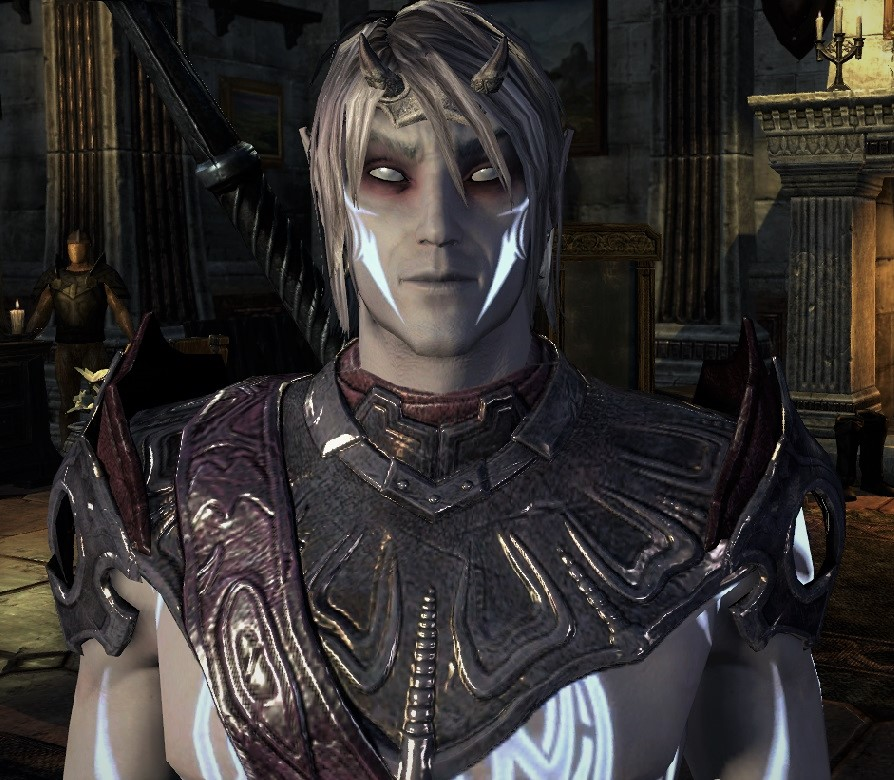 Image of Valkyrion, created in Elder Scrolls Online (as a dark elf).