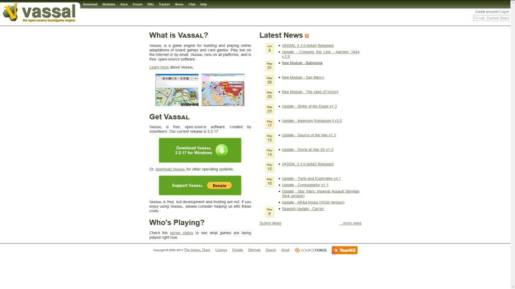 Vassal web page.